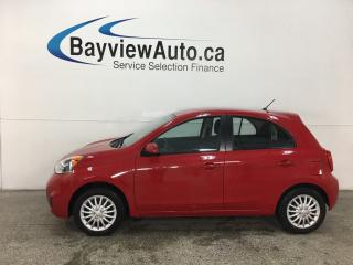 Used 2015 Nissan Micra SV - REVERSE CAM! BLUETOOTH! CRUISE! A/C! PWR GROUP! for sale in Belleville, ON