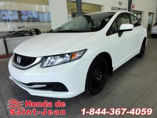 Used 2015 Honda Civic Berline LX Automatique Camera Bluetooth for sale in St-Jean-Sur-Richelieu, QC