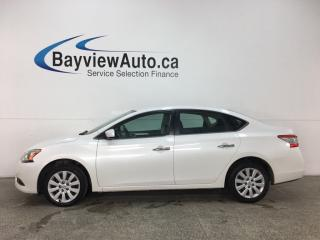Used 2015 Nissan Sentra 1.8 S - BLUETOOTH! A/C! CRUISE! ECO MODE! PWR GROUP! for sale in Belleville, ON