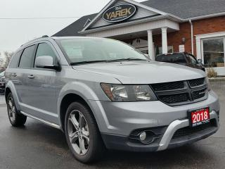 Used 2018 Dodge Journey Crossroad AWD, DVD, NAV, 7 Pass., Heated Seats, Remote Start, Bluetooth for sale in Paris, ON