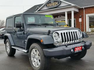 Used 2017 Jeep Wrangler Sahara 4x4 Hardtop, Leather Heated Seats, NAV, Remote Start, Bluetooth, Tow Pkg for sale in Paris, ON