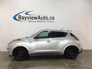 Used 2015 Nissan Juke Nismo - AWD! NAV! ROCKFORD FOSGATE SOUND! PADDLE SHIFTERS! for sale in Belleville, ON