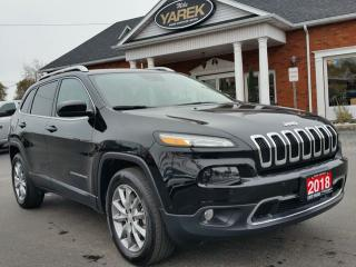 Used 2018 Jeep Cherokee Limited 4x4, Tech Pkg, Leather Heated/Vented Seats, NAV, Remote Start for sale in Paris, ON