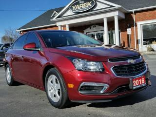 Used 2016 Chevrolet Cruze LT, Leather Heated Seats, NAV, Sunroof, Remote Start, Dual Climate for sale in Paris, ON