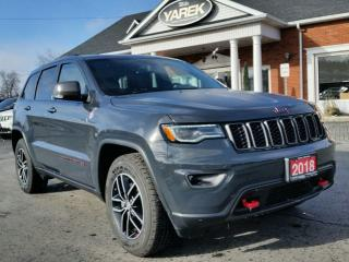 Used 2018 Jeep Grand Cherokee Trailhawk 4x4 V6, Air Suspension, Pano Roof, NAV, Heated/Vented Seats, Remote Start, Back Up Cam for sale in Paris, ON