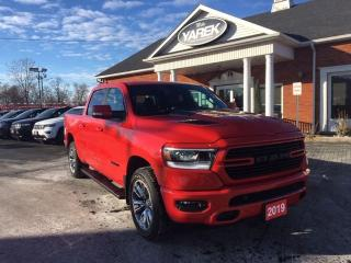 Used 2019 RAM 1500 Sport 4x4, Tech Pkg, NAV, Leather Heated/Vented Seats/Wheel, Pano Roof, Remote Start for sale in Paris, ON