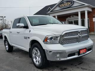 Used 2017 RAM 1500 Laramie 4x4, Leather Heated/Vented Seats, Remote Start, Sunroof, Bluetooth, Back Up Cam/Sensors for sale in Paris, ON