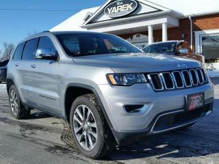 Used 2018 Jeep Grand Cherokee Limited 4x4, Leather Heated Seats/Wheel, NAV, Sunroof, Remote Start, Pwr Gate for sale in Paris, ON