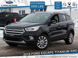 Used 2018 Ford Escape Titanium Awd Cuir for sale in Victoriaville, QC
