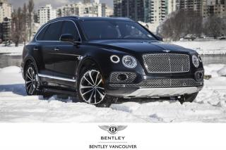 Used 2018 Bentley Bentayga W12 Signature *Bentley Certified Pre-Owned! for sale in Vancouver, BC