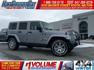 Used 2015 Jeep Wrangler Unlimited SAHARA/LEATHER/BODY COLOUR TOP/NAV/RMT STRT & MORE for sale in Milton, ON