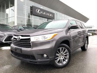 Used 2015 Toyota Highlander XLE AWD XLE AWD, NO Accidents, LOW KM for sale in North Vancouver, BC