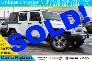 Used 2018 Jeep Wrangler UNLIMITED SAHARA| NAV| HEATED SEATS| SIRIUSXM for sale in Burlington, ON