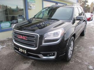 Used 2015 GMC Acadia LOADED SLT-1 MODEL 7 PASSENGER 3.6L - V6.. AWD.. CAPTAINS.. 3RD ROW.. LEATHER.. NAVIGATION.. DUAL ROOF.. DVD PLAYER.. BACK-UP CAMERA.. for sale in Bradford, ON