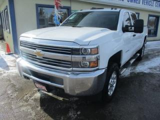 Used 2015 Chevrolet Silverado 2500 3/4 TON DIESEL LT MODEL 6 PASSENGER 6.6L - DURAMAX.. 4X4.. CREW.. SHORTY.. TRAILER BRAKE.. CD/AUX/USB INPUT.. BLUETOOTH.. KEYLESS ENTRY.. for sale in Bradford, ON