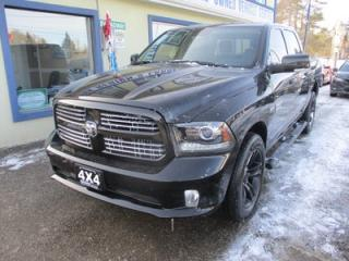 Used 2017 Dodge Ram 1500 LOADED SPORT EDITION 5 PASSENGER 5.7L - HEMI.. 4X4.. CREW.. SHORTY.. LEATHER TRIM.. NAVIGATION.. BACK-UP CAMERA.. BLUETOOTH.. POWER SUNROOF.. for sale in Bradford, ON