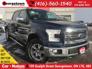 Used 2016 Ford F-150 LARIAT | LEATHER | 4X4 | NAVI | CREW | 5.0L V8 | for sale in Georgetown, ON