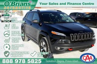 Used 2018 Jeep Cherokee Trailhawk - Accident Free w/Mfg Warranty, Command Start, Leather for sale in Saskatoon, SK