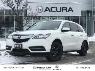 Used 2015 Acura MDX at SH-AWD, A/S Tires Avail, Backup Cam for sale in Markham, ON