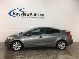 Used 2015 Kia Forte 1.8L LX+ - BLUETOOTH! HTD SEATS! A/C! CRUISE! ALLOYS! for sale in Belleville, ON