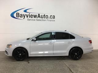 Used 2017 Volkswagen Jetta Wolfsburg Edition - 5SPD! SUNROOF! HTD SEATS! APPLE CARPLAY! ANDROID AUTO! for sale in Belleville, ON