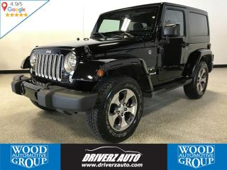 Used 2016 Jeep Wrangler Sahara REMOTE START, ALPINE SOUND, HEATED SEATS for sale in Calgary, AB