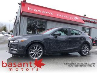 Used 2018 Mazda MAZDA3 GT, HUD, Nav, Heated Seats/Wheel, Sunroof!! for sale in Surrey, BC
