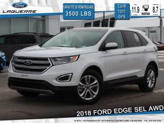 Used 2018 Ford Edge SEL AWD CUIR TOIT for sale in Victoriaville, QC