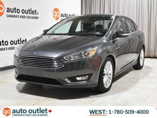Used 2015 Ford Focus Titanium; Auto, Heated Leather, Backup Camera, Remote Start for sale in Edmonton, AB