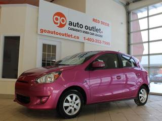 Used 2015 Mitsubishi Mirage ES, Hatchback, Heated seats, Cruise Control, LOW MILEAGE for sale in Red Deer, AB