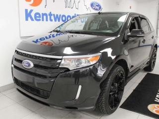 Used 2014 Ford Edge SPORT, sunroof, power heated seats, heated steering wheel, NAV, back up cam, and keyless entry for sale in Edmonton, AB