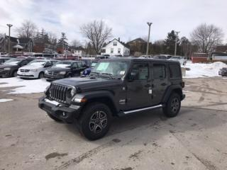 New 2019 Jeep Wrangler Unlimited Sport S | Dual Top | Remote Start | Blue for sale in Mitchell, ON