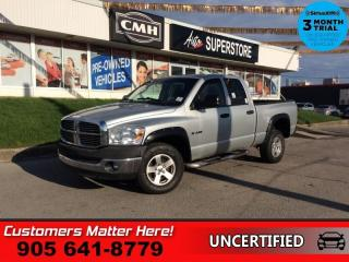 Used 2008 Dodge Ram 1500 SLT  HEMI, 4X4, QUAD CAB, AS IS, (UNCERTIFIED), AS TRADED IN for sale in St. Catharines, ON