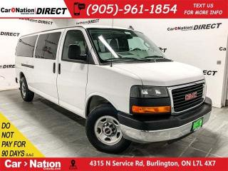 Used 2016 GMC Savana 3500 1LT| ONE PRICE INTEGRITY| 15-PASSENGER| for sale in Burlington, ON