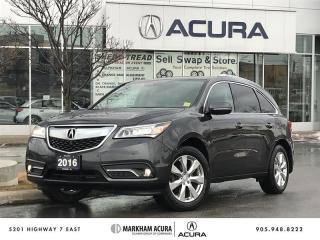 Used 2016 Acura MDX Elite Navi, Ultrawide DVD, Park Sensors for sale in Markham, ON