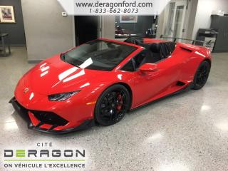 Used 2017 Lamborghini Huracan Lp610-4 Spyder Aero for sale in Cowansville, QC