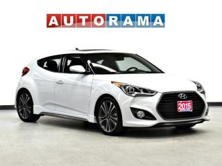 Used 2015 Hyundai Veloster TURBO NAVI LEATHER PAN SUNROOF BACK UP CAMERA for sale in Toronto, ON