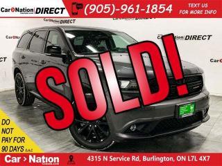 Used 2018 Dodge Durango GT Blacktop| AWD| DUAL DVD| NAVI| SUNROOF| for sale in Burlington, ON