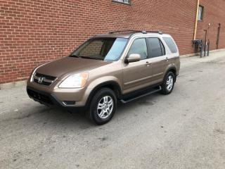 Used 2003 Honda CR-V 4WD EX Auto w/Leather for sale in Mississauga, ON