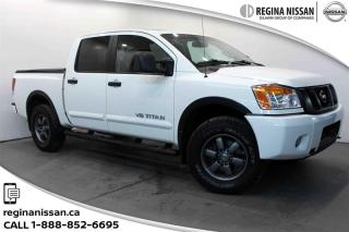 Used 2015 Nissan Titan Crew Cab PRO-4X 4X4 SWB LEATHER - SUNROOF - NAVIGATION for sale in Regina, SK
