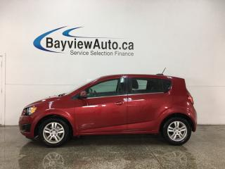 Used 2015 Chevrolet Sonic LT Auto - ONSTAR! REVERSE CAM! HTD SEATS! ALLOYS! for sale in Belleville, ON