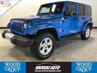 Used 2015 Jeep Wrangler Unlimited Sahara BODY COLOURED ROOF, LEATHER, REMOTE START for sale in Calgary, AB