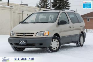 Used 2000 Toyota Sienna NO ACCIDENTS 1 OWNER CERTIFIED SERVICED SPOTLESS for sale in Bolton, ON