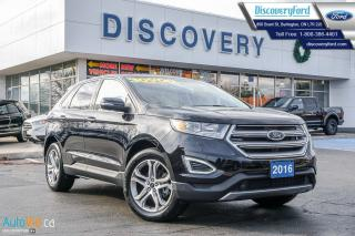 Used 2016 Ford Edge Titanium 2.0L, ROOF, NAV, PWR LIFTGATE, OFF-LEASE for sale in Burlington, ON