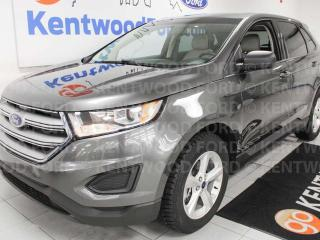 Used 2015 Ford Edge SE FWD with push start and black interior but cream seats! for sale in Edmonton, AB
