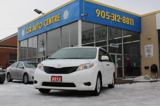 Used 2012 Toyota Sienna FWD 7-Passenger V6 | KEYLESS ENTRY | ALLOY WHEELS | DUAL CLIMATE CONTROL | POWER WINDOWS | POWER DOOR LOCKS | REAR SPOILER for sale in Hamilton, ON