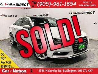 Used 2016 Audi A3 1.8T Komfort| SUNROOF| WE WANT YOUR TRADE| for sale in Burlington, ON