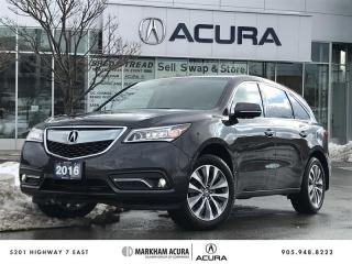 Used 2016 Acura MDX Tech Navi, DVD, Heated Steering Wheel for sale in Markham, ON
