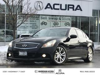 Used 2010 Infiniti G37 Sedan Sport 6sp for sale in Markham, ON