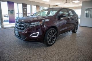 Used 2018 Ford Edge Sport AWD w/ 2.7L ecoboost Sunroof, navigation and more for sale in Okotoks, AB